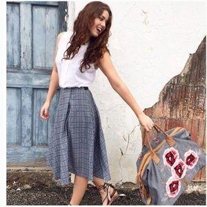 Anthropologie Ranna Gill Aven Midi Skirt XSP
